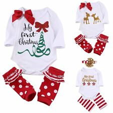 Newborn Toddler Kids Baby Girls Clothes Romper Jumpsuit+Leg Warmers Outfits Sets