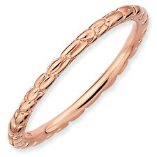 Twisted Ring .925 Sterling Silver Pink Tone Sz 5-10 Stackable Expressions