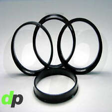 Set of 4 Polycarbonate Plastic Hub Centric Rings 73mm OD 63.9mm ID HubCentric