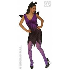 Ladies Womens Bat Lady Costume Outfit for Halloween Vampire Fancy Dress