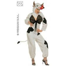 Ladies Womens Sexy Cow Animal Costume for Farm Bull Fancy Dress