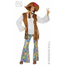 Ladies Womens Woodstock Hippie Woman Costume Outfit for 60s 70s Fancy Dress