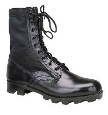Black Ultra Force G.I. Style Jungle Boots - black -Wide Sizes