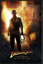 INDIANA JONES AND THE KINGDOM OF THE CRYSTAL SKULL - FRAMED MOVIE POSTER (ADV.)