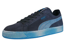 Puma Suede Lo Washed BRTS Mens Trainers / Casual Retro Sports Shoes - Black