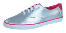 adidas Originals Azurine Low Womens Leather Trainers / Shoes - Silver - Q20599