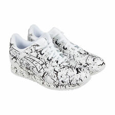 Asics Gel-Lyte III Marble Pack Mens White Black Leather Lace Up Sneakers Shoes