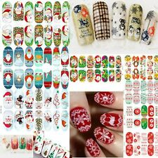 New 3D Water Transfer Christmas Xmas Design Nail Art Stickers Decals Accessories