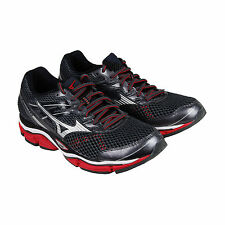 Mizuno Wave Enigma 5 Mens Black Mesh Athletic Lace Up Running Shoes