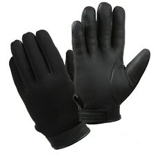 Cold Weather Stretch Fabric Duty Gloves - Black - Lined With Thermoblock™