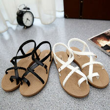 Women Summer Fashion Beach Flat Flip-flop Sandal Slipper Rhinestone Shoes AUS