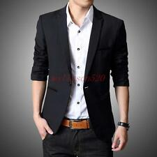 Mens casual profession  Blazer Business Jacket Slim fit one Button Coat outwear