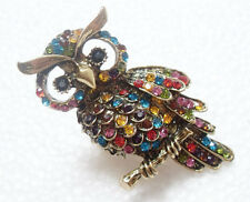 New Fashion crystal rhinestone Gold OWL stretchy ring Jewelry pretty rings 1