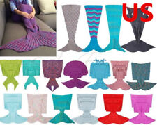 Super Soft Warm Hand-Crocheted Mermaid Tail Blanket Sofa Blanket ADULT Blankets