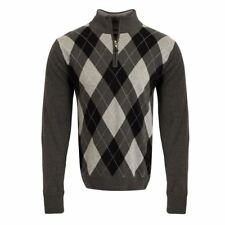 2016 Cutter & Buck Argyle WIND-BLOCK Thermal Sweater Mens Golf Lined Pullover