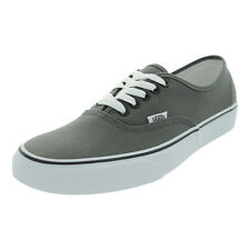 Vans Men's Authentic Pewter/Black Canvas Skate Shoes