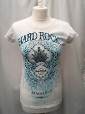 Hard Rock Cafe - Barcelona - Couture Ladies Fit T-Shirt - Size Small (UK 6/8)