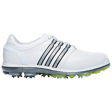ADIDAS MENS PURE 360 GOLF SHOES - NEW CLASSIC LEATHER WATERPROOF PURE MOTION