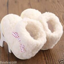 Baby Infant Toddler Bowknot Cotton Soft Sole Warm Snow Boots Boy Girl Crib Shoes
