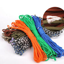 50FT 550 Paracord Parachute Cord Lanyard Mil Spec Type III 7 Strand Core Ropes