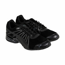Puma Cell Kilter Nubuck Mens Black Grey Nubuck Athletic Lace Up Running Shoes