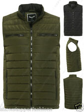New Mens Quilted Gilet Padded Work Winter Bodywarmer Khaki Black Size S M L XL