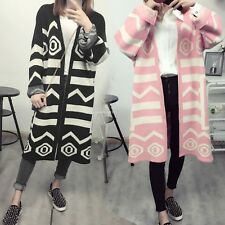 Autumn Women Long Sleeve Oversized Loose Knitted Sweater Jumper Cardigan Outwear