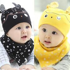 Cute Baby Boy Girl Hat Triangle Head Scarf Set Toddler Costume Cap+Saliva Towel