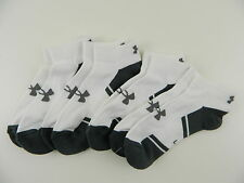 Under Armour $33 White 4-PAIRS SHOE SIZE 9-12 MEN'S Athletic Low Cut SOCKS G26