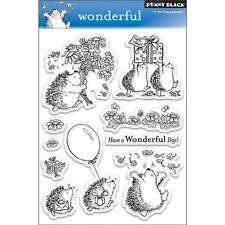New Penny Black RUBBER STAMP clear Acrylic WONDERFUL set free usa ship