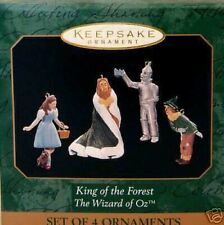 1997 Hallmark Keepsake Ornament Wizard of OZ King of the Forest Set of 4 Mini's