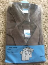 Boy's School Shirt  2 Pk By 'John Lewis' Colour Grey Age 16 Years Chest 37