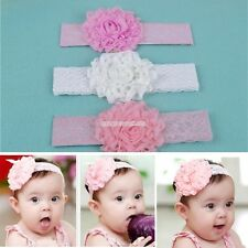 Baby Kid Girl Toddler Lace Bow Flower Headband Hairband Hair Accessories Headdre