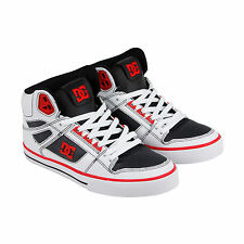DC Spartan High WC Mens White Leather High Top Lace Up Sneakers Shoes