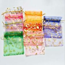 100pcs 10x12cm Luxury Mixed Organza Wedding Party Favor Jewelry Gift Pouch Bags