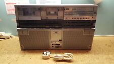 VINTAGE RETRO SHARP GF-555 PORTABLE STEREO RADIO CASSETTE PLAYER GHETTO BLASTER