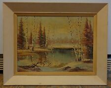 Signed and Dated Erkki Jalava Canadian Oil Painting on Canvas Panel