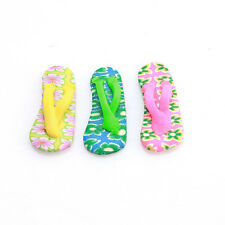 20pcs Fashion Flip-Flops Mixed FIMO Polymer Clay Beads Charms Fit DIY ON SALE LC