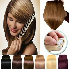 20/40pcs 16inch 100% Real Remy Human Hair Tape In Extensions 45g/70g US Stock