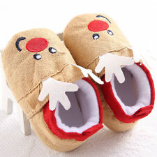 Christmas Baby Toddler Infant Snow Boots Cartoon Soft Sole Prewalker Crib Shoes