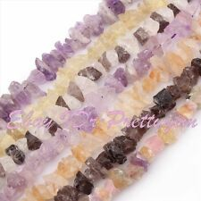 "10x15-16x20mm Natural Quartz Freeform Shape Gemstone Spacer Beads 15"" Pick Stone"