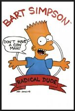THE SIMPSONS - FRAMED TV SHOW POSTER / PRINT (BART SIMPSON: RADICAL DUDE)