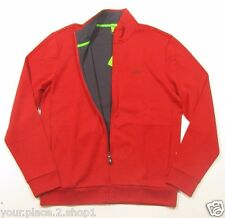 "Hugo Boss Green Label ""M-Skaz"" Full Zip Red Graphic Print Stand Collar Jacket"