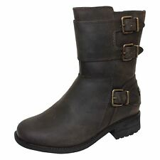 UGG WILCOX WOMENS STOUT LEATHER BOOTS