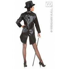 Tailcoat Satin Womens for Circus Ringmistress Showgirl Fancy Dress