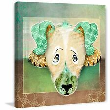 Marmont Hill - 'Sad Dog II' by Connie Haley Painting Print on Wrapped Canvas
