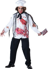 Mens Dead Zombie GOREmet Chef Halloween Horror Fancy Dress Costume Outfit M-XL