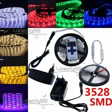 5M 10M 20M Roll 3528 SMD Flexible LED Strip Rope Lights Controller Power Supply