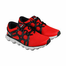 Reebok Hexaffect Run 4.0 MTM Mens Red Mesh Athletic Lace Up Running Shoes