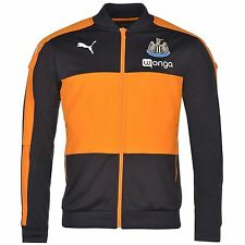 Puma Newcastle United Stadium Jacket Mens Nvy/Or Football Soccer Tracksuit Top